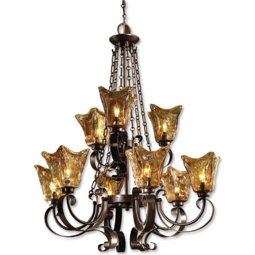 Uttermost 21005 Vetraio 9-Light Chandelier, Oil Rubbed Bronze (Uttermost Vetraio Accent)