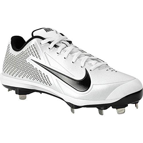 Nike Men's Zoom Vapor Elite Metal Baseball Cleats, White (Zoom Vapor Cleats)