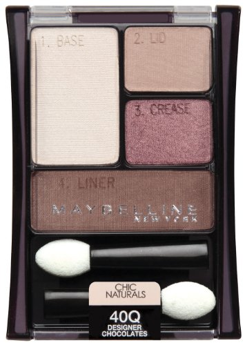 Maybelline New York Expert Wear Quads Fard à paupières, Designer 40Q Chocolats Naturals Chic, 0,17 once