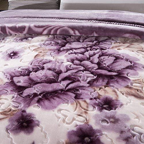 Zryh Doux et Facile d'entretien, couvertures de Mariage Double Couverture résistant à la décoloration Fluff Violet Cristal