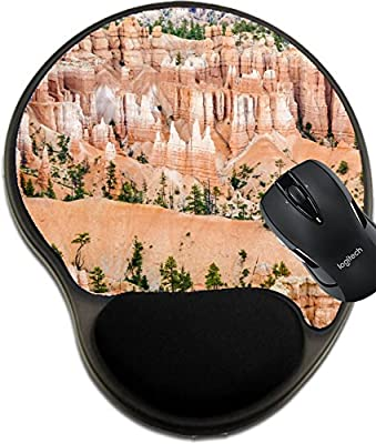 MSD Mousepad wrist protected Mouse Pads/Mat with wrist support design 27118060 beautiful landscape in Bryce Canyon with magnificent Stone formation like Amphitheater temples figures afternoon ligh