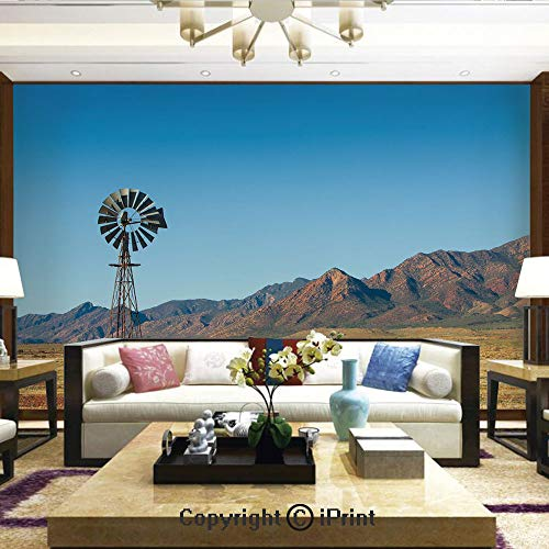 Lionpapa_mural Removable Wall Mural Ideal to Decorate Bedroom,or Office,Flinders Ranges South Australia Mountains Barren Land Summer Decorative,Home Decor - 66x96 ()