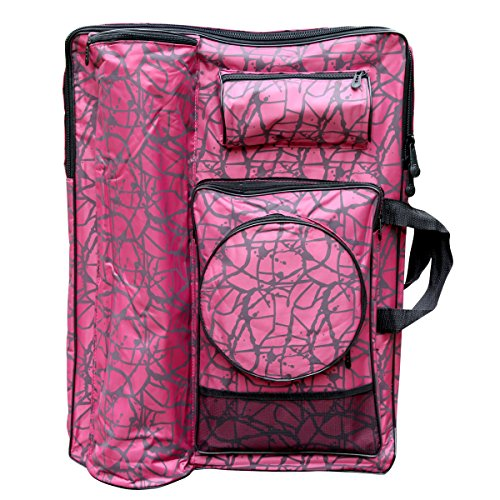 Transon Waterproof Artist Portfolio Tote and Backpack Bag Pink Color Size 26.3