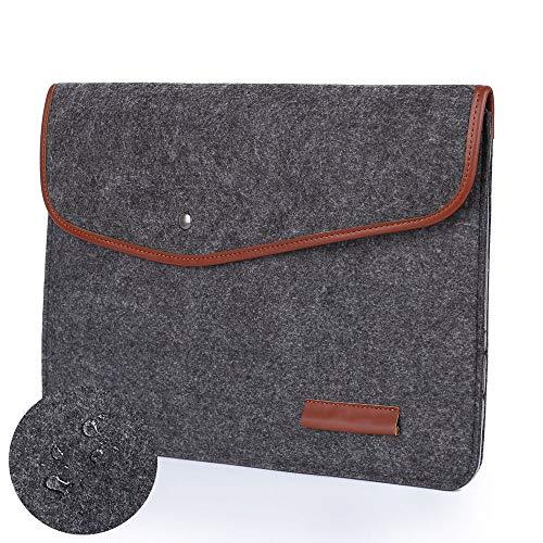 Leather Netbook Case - Felt Laptop Sleeve, Laptop Case Cover for 13-13.3