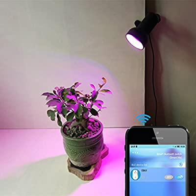 10W Clip LED Grow Lights with Bluetooth Timer Switch Automatic Shining for Home Garden Indoor Plants Veg Flower from AiHitech