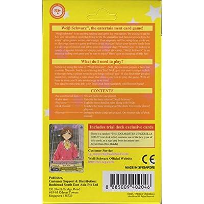 Weiß Schwarz WS-TD-402046-en The Idol Master Cinderella Girls Power Trial Deck: Toys & Games