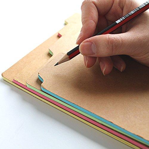 Amazon.com : SUCK UK A5 Tab Notebooks : Subject Notebooks : Office ...