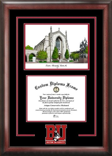 Campus Images ''Boston University Spirit Graduate Diploma'' Frame with Lithograph Print, 11'' x 14''