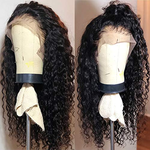 (Fureya Long Loose Curly Glueless Lace Front Wigs for Women Heat Resistant Fiber Synthetic Hair with Baby Hair 180 Density 20)