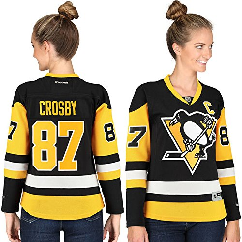 87 Sidney Crosby Pittsburgh Penguins Home Women's Premier Jersey Black color Size S