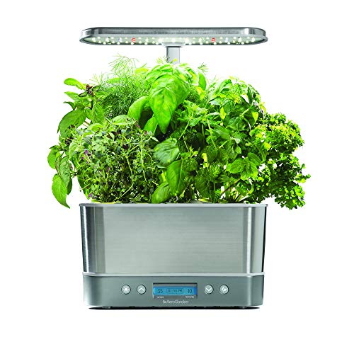 AeroGarden Harvest Elite - Stainless Steel (Best Aeroponic System 2019)