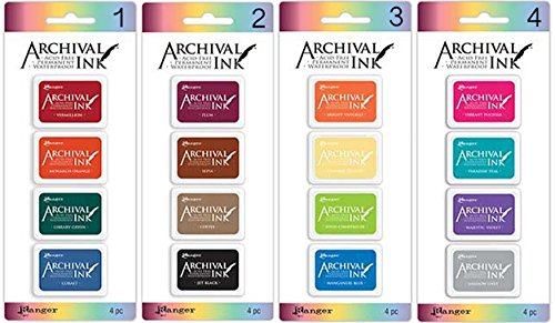 (Ranger - Archival Mini Ink Pads Kits 1-4, Bundle of Kit 1, 2, 3, and 4)