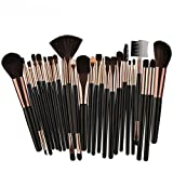SMTSMT 25pcs Makeup Brush Foundation Blusher Eye Shadow Cosmetic Brushes Set Kit (Black)
