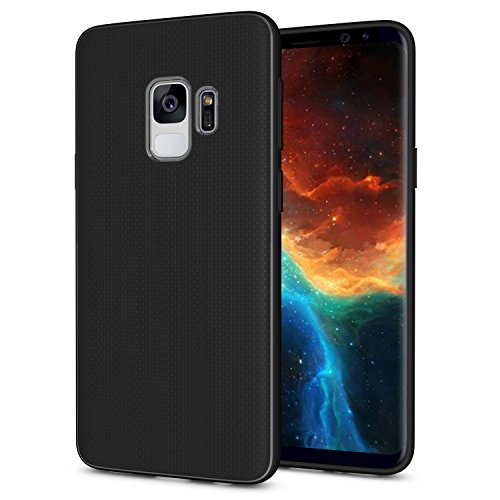 Galaxy S9 Case, OEAGO [Ultra-Thin] [Anti Slip] [Light Weight] Flexible TPU Bumper Soft Rubber Slim Silicone Skin Cover with Easy Grip Design for Samsung Galaxy S9 S 9 (2018) - Black