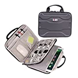 Electronics Organizer Travel Bag Accessories Cable Cord Gadget Gear Storage EVA Hard Cases for 10.5 Inch Tablet Large (Black)