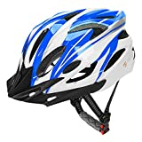 JBM Adult Cycling Bike Helmet Specialized for Men Women Safety Protection CPSC Certified (18 Colors) Black/Red / Blue/Pink / Silver Adjustable Lightweight Helmet with Reflective Stripe and Remova