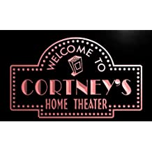 phg994-r Cortney's Home Theater Popcorn Bar Beer Neon Light Sign