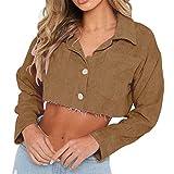 KESEELY Women Fashion Long Sleeve Casual Oversize Jacket Windbreaker Coat Overcoat (XL, Coffee)
