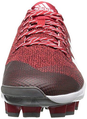 Chaussure Adidas Homme Freak X Carbone Mid Baseball, Puissance Rouge, Argent Rencontre, Ftwr Blanc, 14 M Us