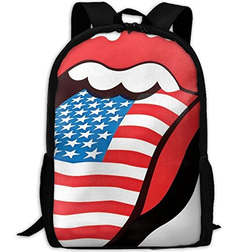 JJHGNL Rolling Stones USA Lips Unisex College Bag Fits up Laptop Casual Rucksack Waterproof School Backpack Daypacks