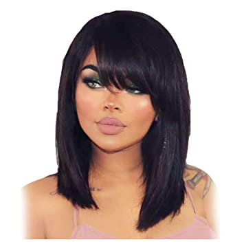 Inkach Clearance! Long Straight Lace Front Unit Wigs