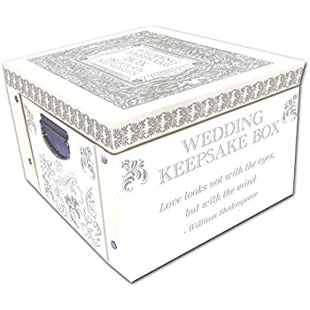 White Wedding Keepsake Box A Lifetime Of Memories Large Collapsible Storage Box  sc 1 st  Amazon.com & Amazon.com: White Wedding Keepsake Box A Lifetime Of Memories Large ...