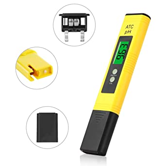 CHAMVIS PH Meter Digital LCD Water Quality Tester for Household Drinking Water, Swimming Pools, Aquariums, Hydroponics, PH Measurement for 0-14.0 PH, ± 0.05 Accuracy, 0.01 Resolution