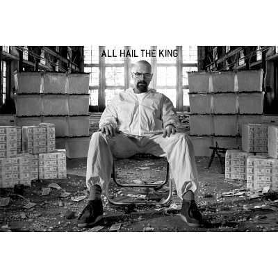 Breaking Bad Poster ~ All Hail The King ~ Walter White in a Room Full of Cash!