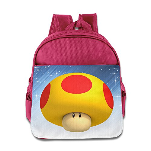 Price comparison product image ELF STORY - Super Mario Little Kid Baby Boys Girls Toddler Backpack Bag Pink
