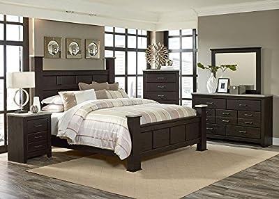 Henley Rustic Pine 8 Pc. Queen Bedroom Furniture Set In Brown