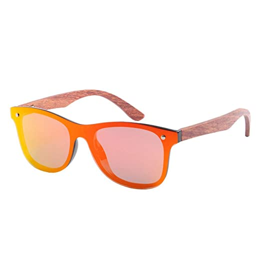 Yangjing-hl Gafas de Sol de Madera Retro Hombres Gafas de ...