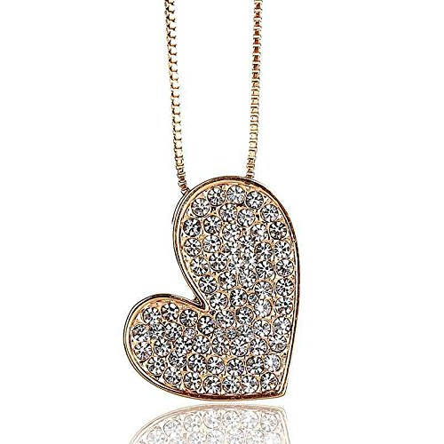 Generic KS/_this/_year,/_the/_ new /_alloy/_ heart shaped diamond pendant necklace Korea fashion jewelry clavicle chain Korean /_Hot