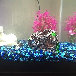 Bestgle Aquarium Fish Tank Decorations, Resin Double Broken Barrel Emulational Dead-wood