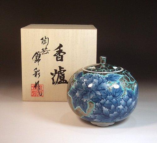 有田焼伊万里焼の高級香炉陶器|贈答品|ギフト|記念品|贈り物|プラチナ陶芸家 藤井錦彩 B00JAT2DVQ