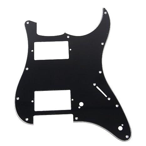 yibuy Negro Doble Fat HH Disposición para golpeador guitarra ...
