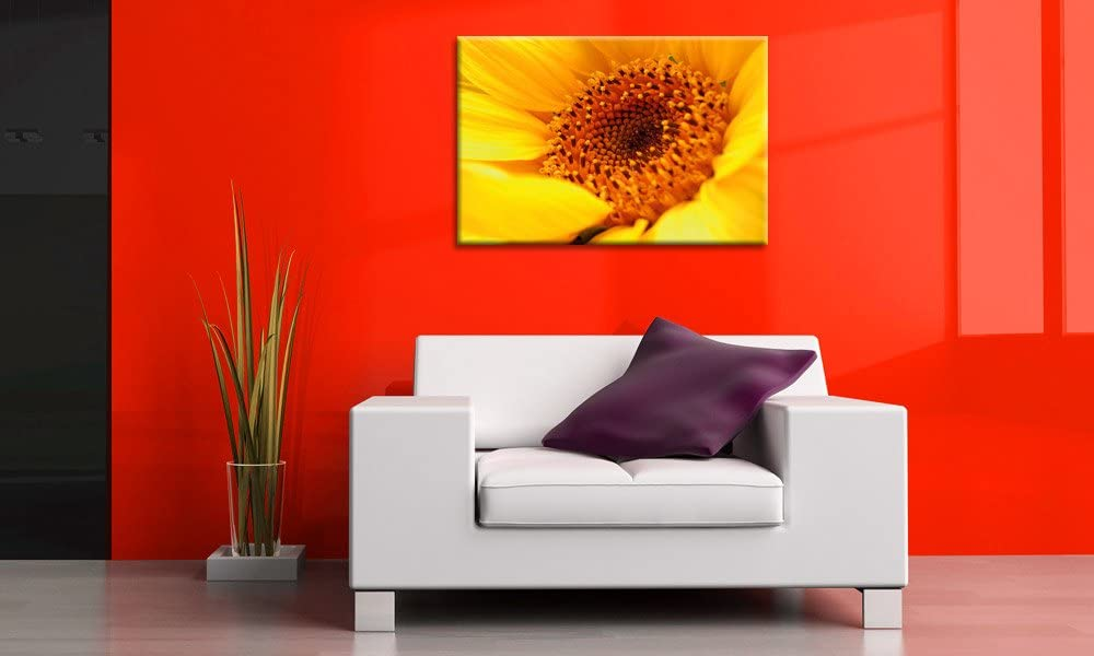 TOP impresión sobre lienzo 80 x 60 cm girasoles Art-Nr. A00667 ...