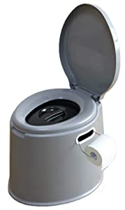 Basicwise Portable Travel Toilet for Camping and Hiking