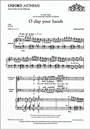 O clap your hands: Vocal score John Rutter Anniversary Edition ...