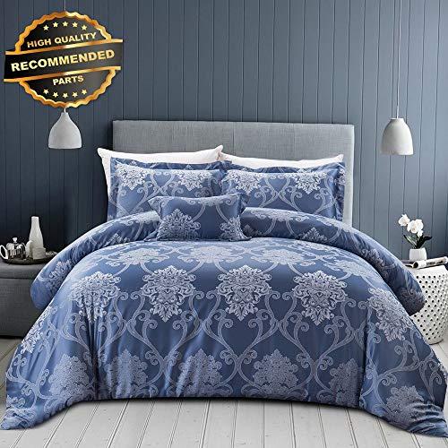Gatton Premium New Comforter Set HOT Royal Blue 4Pc Shams King Bedskirt Milano | Style Collection Comforter-311012656