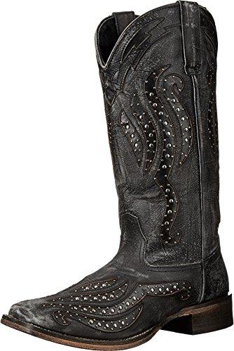Roper Women's Stacie Western Boot Square Toe Black 10 M