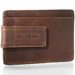 Money Clip Wallet Slim RFID/NFC Blocking Leather Front Pocket Wallet for Men (Memphis)