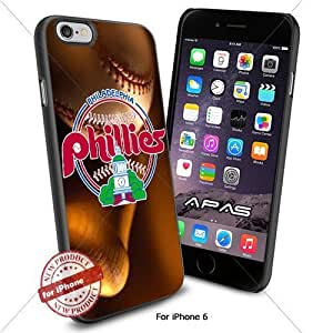 Philadelphia Phillies MLB ,Cool Iphone 6 Smartphone Case Cover Collector iphone TPU Rubber Case Black color [ Original by WorldPhoneCase Oly ]