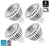 Luxrite LR21100 (4-Pack) 7-Watt MR16 GU5.3 COB LED Spotlight Bulb, 50W ...