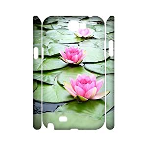 Water Lily Phone Case For Samsung Galaxy Note 2 N7100 [Pattern-1]