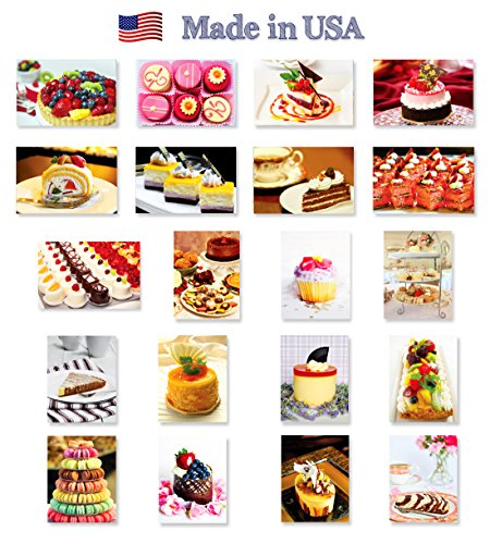 postcard postcards depicting delicious desserts