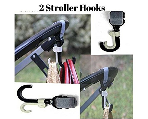 Freshline Stroller Hook Mommy Hook Stroller Clip Accessories Hanger Strap For Baby Diaper & Caddy Bag - Travel Hanging Purse Clothing Grocery Bags In Walker Wheelchair Rollators & Shopping Trolley by Freshline