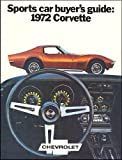 1972 Chevrolet Corvette Stingray Sales Brochure