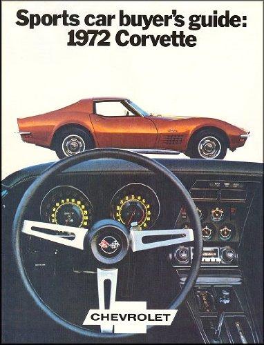 1972 Chevrolet Corvette Stingray Sales Brochure