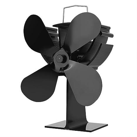 LQKYWNA Ventilador De Estufa Alimentado por Calor Ecológico ...