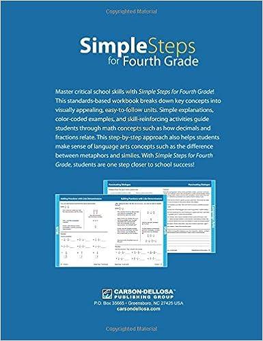 Simple Steps for Fourth Grade: Thinking Kids, Carson-Dellosa ...